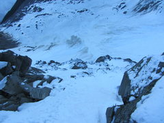 Rock Climbing Photo: lower pitches on the route