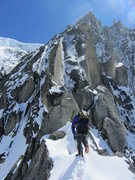 Rock Climbing Photo: the exit from the rock section goes up and left of...