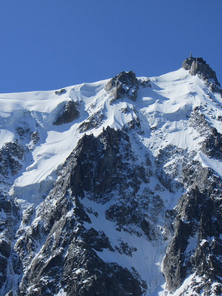 Rock Climbing Photo: the upper half of the Frendo Spur as seen from the...