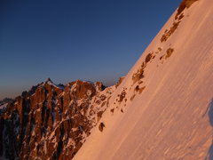 Rock Climbing Photo: the upper snow slopes are steep enough