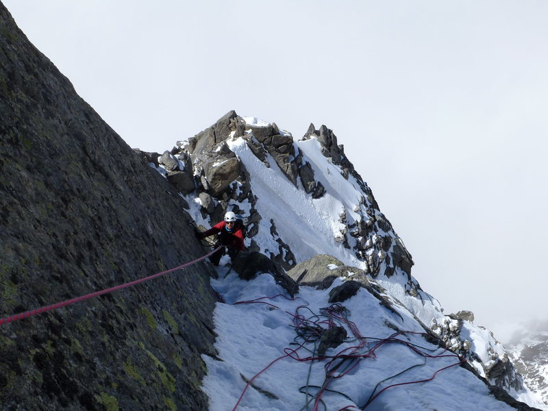this turned out to be the crux pitch given the conditions at the time