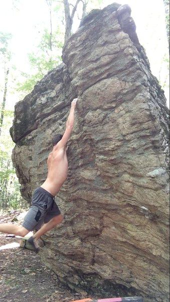 Rock Climbing Photo: Holding the cut