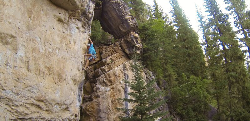 Cleaning up The Puke Stain, 5.11d