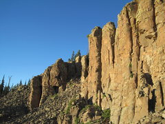 Rock Climbing Photo: Banshee Wall.  The Keener & Aibell buttress far le...