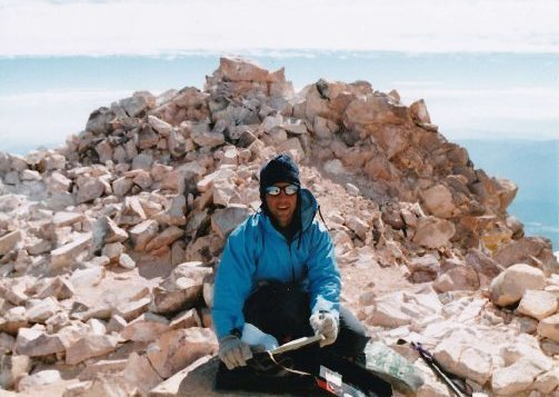 RANDY ON SUMMIT OF MNT. SHASTA, SEPT. 1996