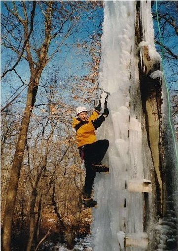 TOM AND I BUILT THIS ICEWALL IN HIS BACKYARD IN HOWELL NJ IN 1997.