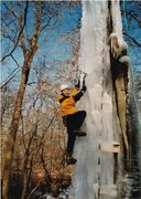Rock Climbing Photo: TOM AND I BUILT THIS ICEWALL IN HIS BACKYARD IN HO...