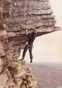 Rock Climbing Photo: Starting out on The Dangler 5.9, I felt it easier ...