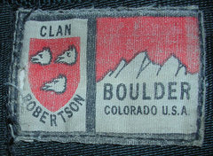 Rock Climbing Photo: #3 Clan Robertson logo close up.