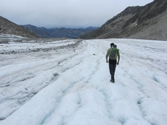 Rock Climbing Photo: hiking out on the glacier, July 2015