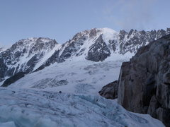 Rock Climbing Photo: view of Les Droites and Aiguille Verte