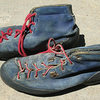 #1 Robbins boots, the red laces are original. circa 1971?