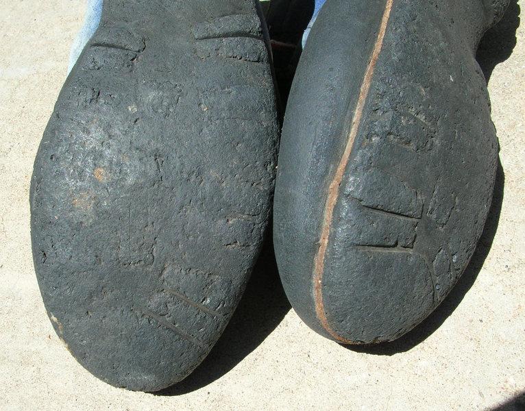 #3 Robbins boots. Well worn.