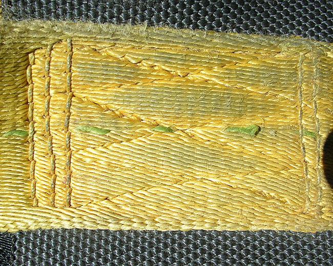 #7 Clan Robertson harness. Free hand machine stitching on the waist webbing.
