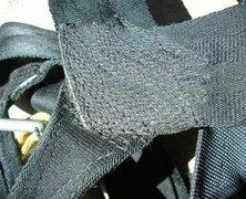 Rock Climbing Photo: #9 Clan Robertson harness. Free hand machine stitc...
