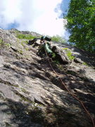 "Rock Climbing Photo: Starting up P1 of ""Hogo's"" - the bolts o..."