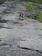 "Rock Climbing Photo: At the bolt just above the hardest ""unavoidab..."