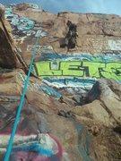 Rock Climbing Photo: me toproping:)