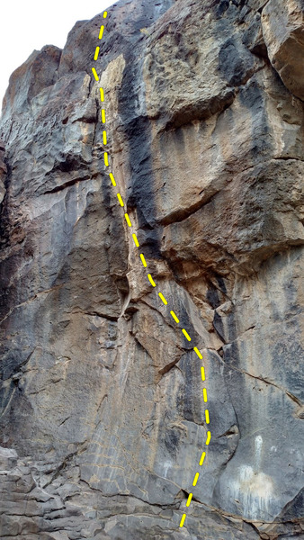 the scooped wall with the unnamed 5.12