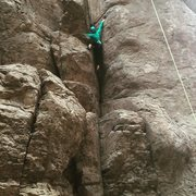 Rock Climbing Photo: Making a reach