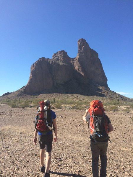 Rock Climbing Photo: Approachin' it