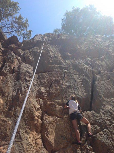 Ela Nordahl climbing