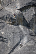 Rock Climbing Photo: 2nd pitch with person on 1st belay, one at the bul...