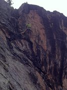 Rock Climbing Photo: Lou Martinelli finds his way onto the upper crux s...