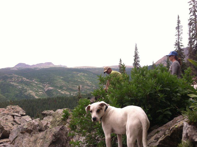 Rock Climbing Photo: Chillin' base area with mountain views galore.