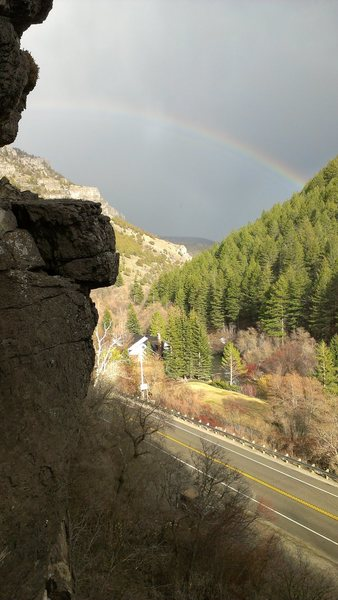 rainbow after rain up Logan canyon
