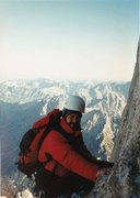 Rock Climbing Photo: I took this photo of Tom high up at around 13,000 ...