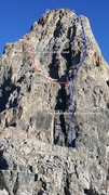 Rock Climbing Photo: Upper portion of the SE face of Eisenhower Tower