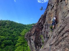Rock Climbing Photo: Jamison starting up the blocky piller on pitch 3. ...