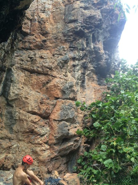 Rock Climbing Photo: These routes are climber's left of the beach where...
