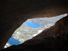 Rock Climbing Photo: The view out the summit block tunnel