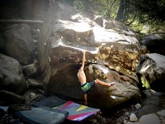 """Rock Climbing Photo: Oliver Richman on the FA of """"The Rollout&quot..."""