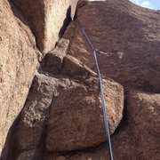Rock Climbing Photo: The first bolt and the start.