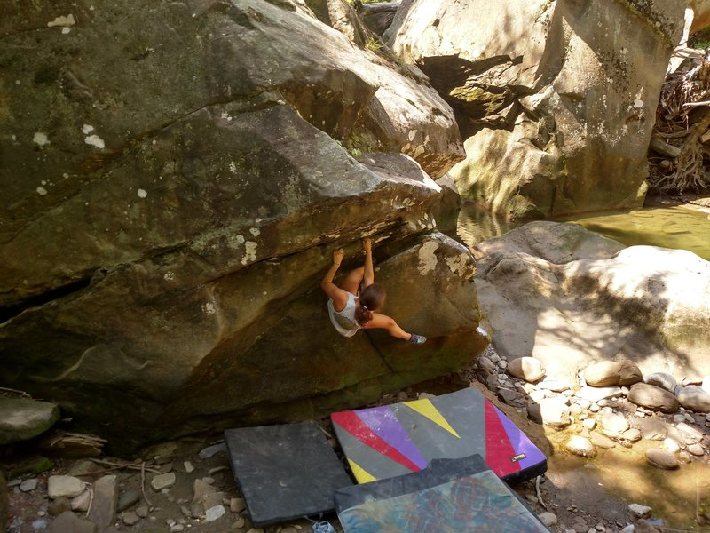 "Rock Climbing Photo: Sophia C. on the second ascent of ""The Rollou..."