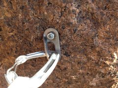 Rock Climbing Photo: One of the better bolts. It doesn't look that good...