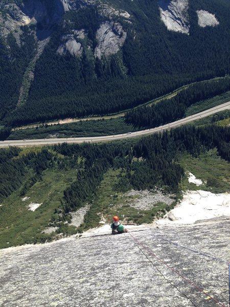 Last climbing pitch
