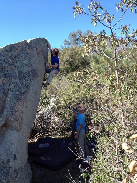 Rock Climbing Photo: Mike Maiden on the Spike. Photo: Chris Hubbard