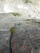 Rock Climbing Photo: Dede following P5.