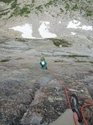 Rock Climbing Photo: Dede following P6.