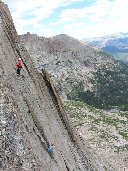 Climbers on P5.