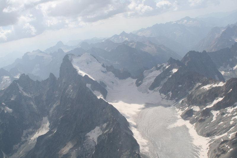 Glacier Blanc and Barre des Ecrins