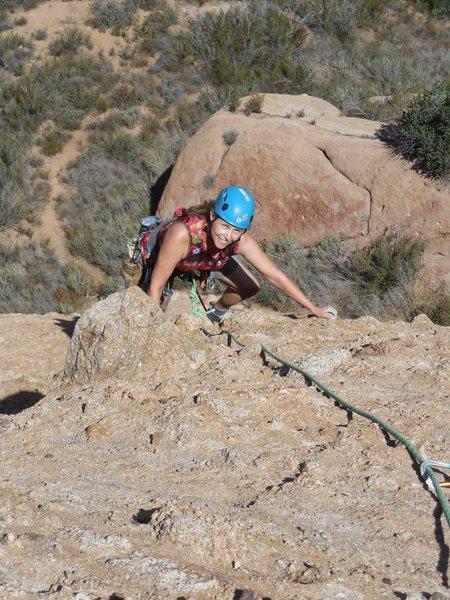 Rock Climbing Photo: Nearing the top of El Matador.
