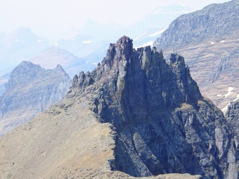 Bishops Cap from the North Ridge of Pollock Mtn