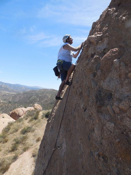 "Climbing ""Mixed Emotion."""