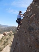 "Rock Climbing Photo: Climbing ""Mixed Emotion."""