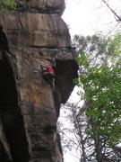 Rock Climbing Photo: jugglin' joe getting into the business